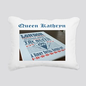 Diamond Jubilee Poster Rectangular Canvas Pillow