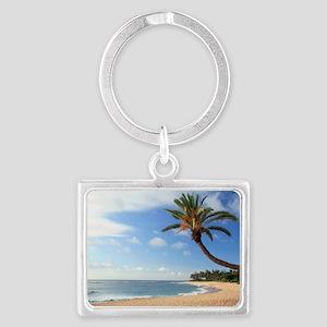 Tropical beach Landscape Keychain