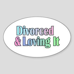 just divorced Happy Divorce Sticker