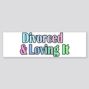 just divorced Happy Divorce Bumper Sticker