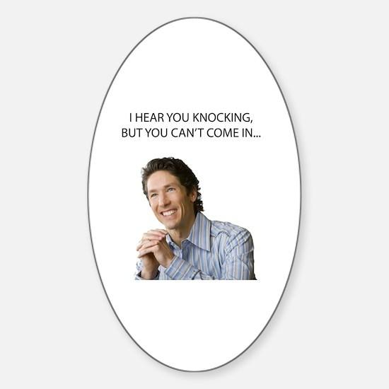 Funny Hear Sticker (Oval)