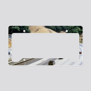 Train and motorway, Californi License Plate Holder