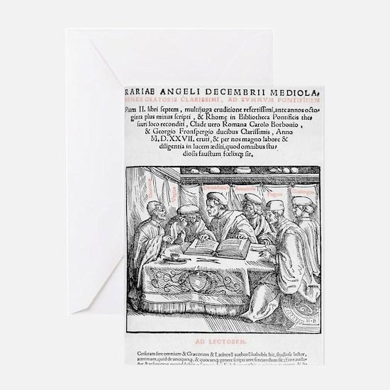 Title page of Politiae literariae, 1 Greeting Card