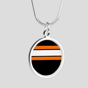 Team Colors 2...Orange,white and black Necklaces