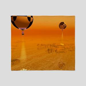 Titan exploration, artwork Throw Blanket