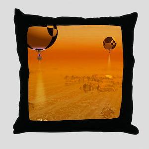 Titan exploration, artwork Throw Pillow