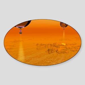 Titan exploration, artwork Sticker (Oval)