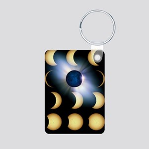 Total solar eclipse, artwo Aluminum Photo Keychain