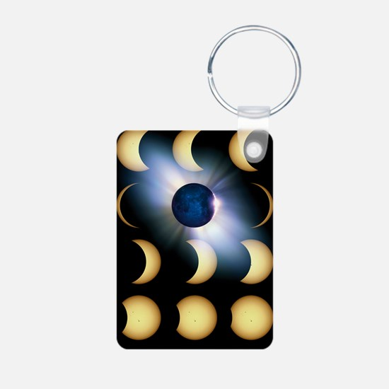 Total solar eclipse, artwo Keychains