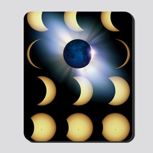 Total solar eclipse, artwork Mousepad