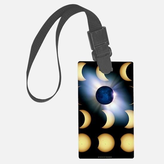 Total solar eclipse, artwork Luggage Tag