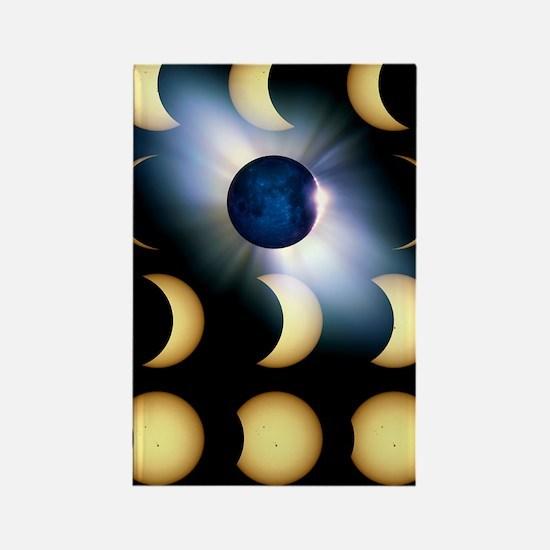 Total solar eclipse, artwork Rectangle Magnet