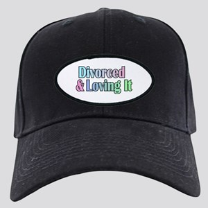 just divorced Happy Divorce Black Cap with Patch