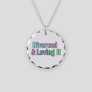 just divorced Happy Divorce Necklace Circle Charm
