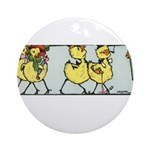 Easter Chicks on Parade Ornament (Round)