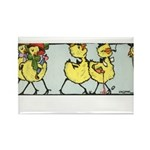 Easter Chicks on Parade Rectangle Magnet