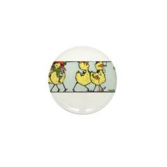 Easter Chicks on Parade Mini Button