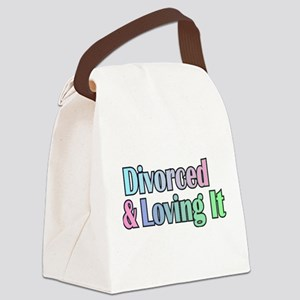 just divorced Happy Divorce Canvas Lunch Bag