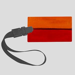 ROTHKO ORANGE RED WHITE Luggage Tag