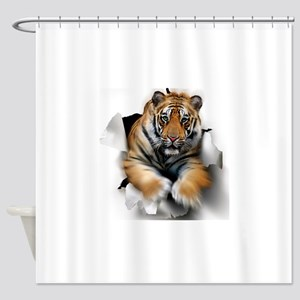 Tiger, artwork Shower Curtain