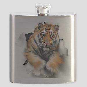 Tiger, artwork Flask