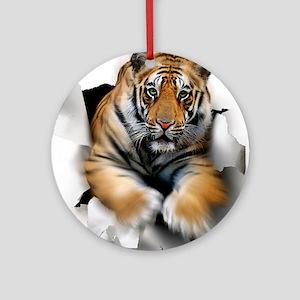 Tiger, artwork Round Ornament