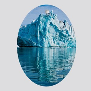 Tidewater glacier Oval Ornament