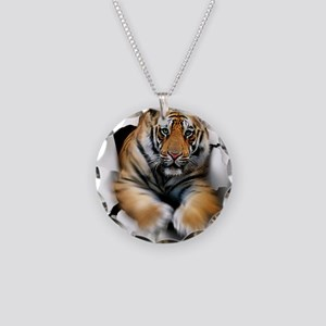 Tiger, artwork Necklace Circle Charm