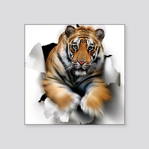 "Tiger, artwork Square Sticker 3"" x 3"""