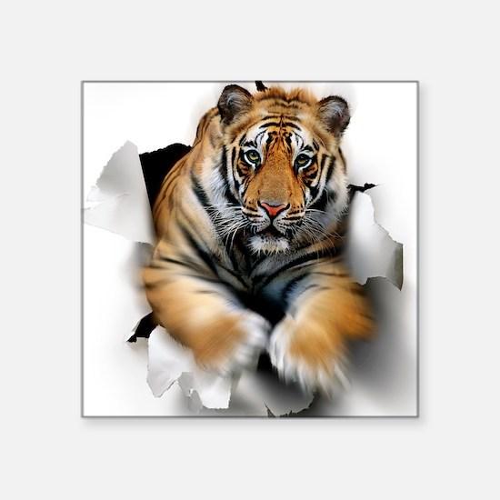 """Tiger, artwork Square Sticker 3"""" x 3"""""""