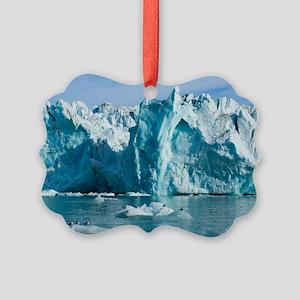 Tidewater glacier Picture Ornament