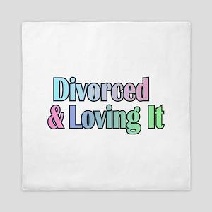 just divorced Happy Divorce Queen Duvet