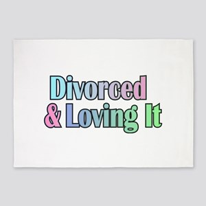 just divorced Happy Divorce 5'x7'Area Rug