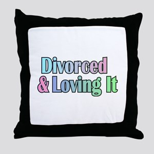 just divorced Happy Divorce Throw Pillow