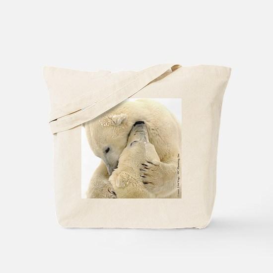 Polar Bear Hugs Tote Bag