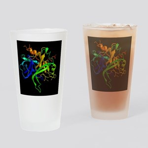 Thrombin protein, secondary structu Drinking Glass