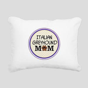 Italian Greyhound Dog Mom Rectangular Canvas Pillo