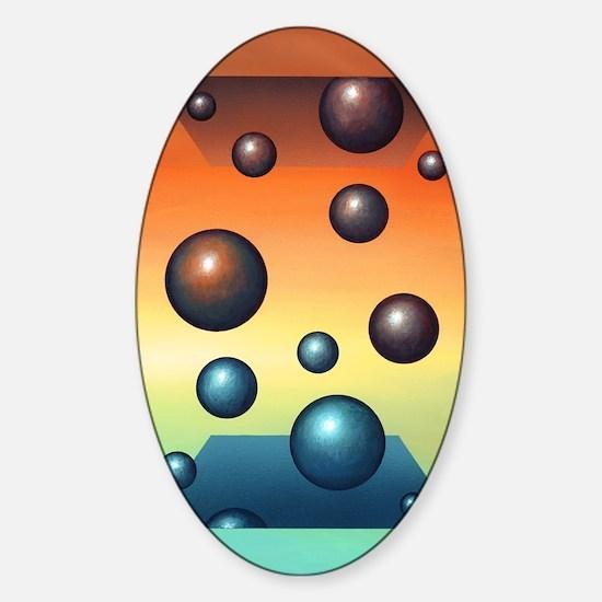 Thermodynamics, conceptual artwork Sticker (Oval)