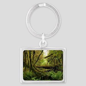 Temperate rainforest Landscape Keychain