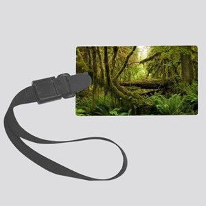 Temperate rainforest Large Luggage Tag
