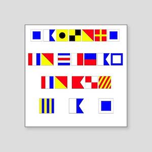 "SAILORS TO CHEAP   no lette Square Sticker 3"" x 3"""