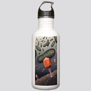 T-bacteriophages attac Stainless Water Bottle 1.0L
