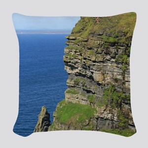 Cliffs of Moher Woven Throw Pillow