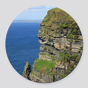 Cliffs of Moher Round Car Magnet