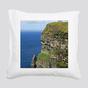 Cliffs of Moher Square Canvas Pillow