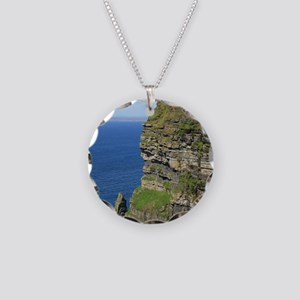 Cliffs of Moher Necklace Circle Charm