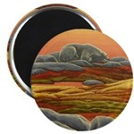 """Polar Bear Art 2.25"""" Magnet (10 pack)"""