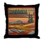 Polar Bear Art Throw Pillow