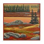 Polar Bear Art Tile Coaster