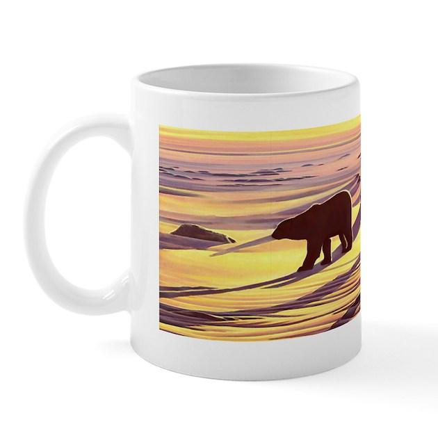 Polar Bear Art Mug By Polar Bear Gift